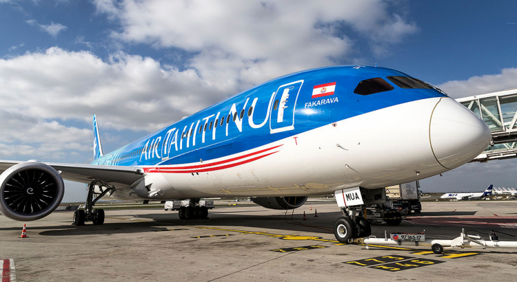 Air Tahiti Nui Boeing 787 in Paris