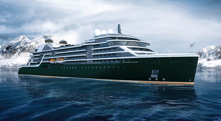 Seabourn Venture - exterior rendering (front) Foto Seabourn