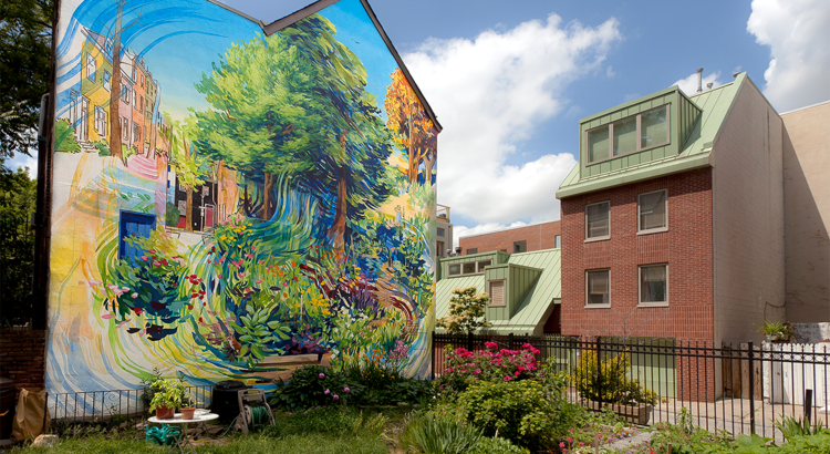 USA Philadelphia Mural Arts Garden of Delight by David Guinn Foto Steve Weinik